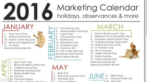 Fandom Marketing 2017 Calendar