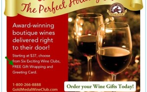 GoldMedalWineClub.com Free Gift Wrapping and Card example: